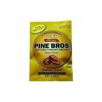 Pine Bros. Softish Throat Drops Value Size, Natural Honey, 32 Count