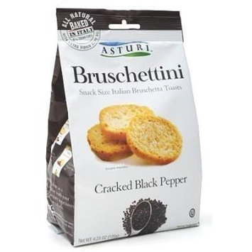Asturi Cracked Black Pepper Bruschettini (Case of 4) 4.23oz