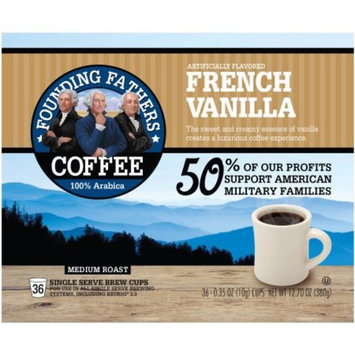 Founding Fathers Coffee Single Serve Cups French Vanilla, 0.34 OZ