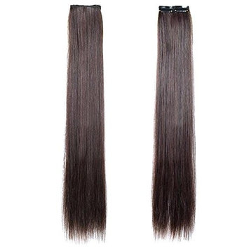 Hairpiece Ponytail 2 Clips Clip on Extension Long Hair Smooth Heat-Resisting Cosplay Party Hairpiece Gift 21.65(55cm)