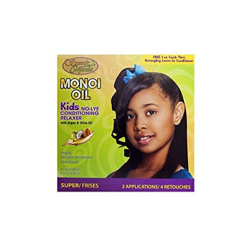 Smooth Organics Monoi Oil No Lye Conditioning Relaxer Kids - Super Kids (2 Pack)