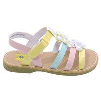 Rachel Shoes Girls Multi Color Strappy Gemstone Embellished Sandals 8 Toddler