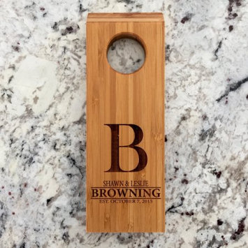 Qualtry Personalized Wine Bottle Balancers Browning