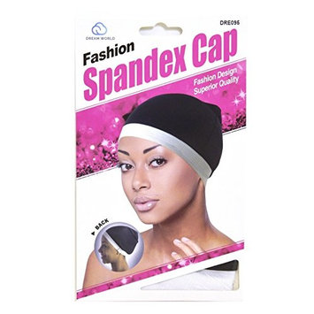 Dream World Fashion Women Spandex Cap Black