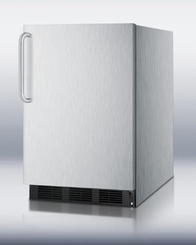 Summit FF6BCSSADA 5.5 Cu. Ft. Stainless Steel Undercounter Compact Refrigerator
