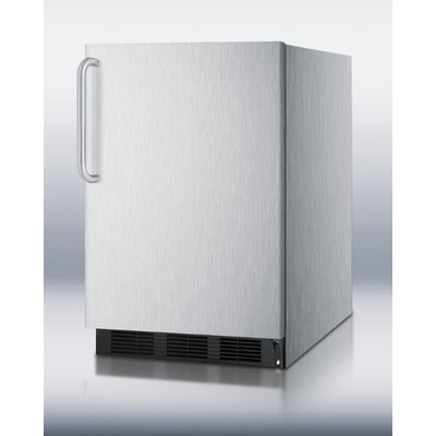 SUMMIT ADA compliant built-in undercounter refrigerator with automatic defrost and stainless steel exterior
