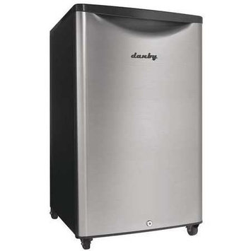 Danby DAR044A6BSLDB 4.4 Cu Ft. Compact Refrigerator Black and Stainless Steel