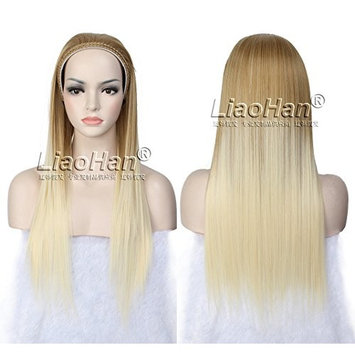 Long Straight Ombre Hair Fall Half Head Ombre Wig Fall 3/4 Wig Hairpieces Half Fall