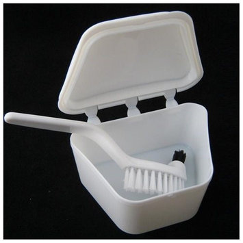 Atb Denture Bath Brush Dental Retainer Box Orthodontic Mouth Guard Storage Container