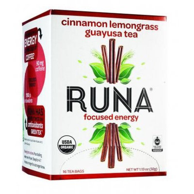 Guayusa Tea Organic Cinnamon Lemongrass Runa 16 Bag