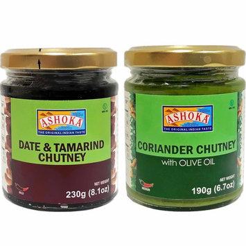 Ashoka - (Combo #1) Coriander Chutney / Date & Tamarind Chutney, 2 bottles