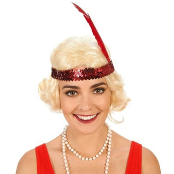 Flapper with Curls Women's Costume Wig Black