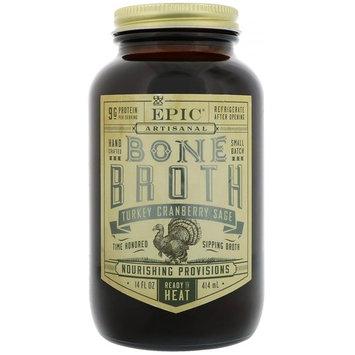 Epic Bar, Artisal Bone Broth, Turkey Cranberry Sage, 14 fl oz (414 ml) [Flavor : Turkey Cranberry Sage]