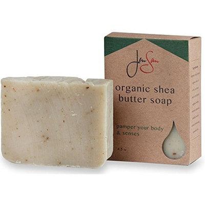 Men's Soap Bar – JenSan Frontiersman Exfoliating and Moisturizing Organic Shea Butter Soap for Men