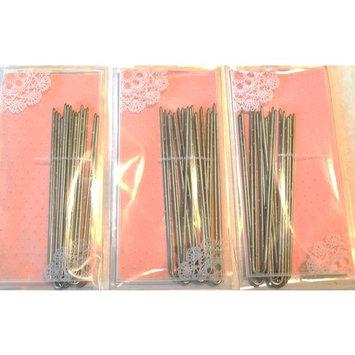 3 Pack Heavy Duty U Shape Amish Hair Pins, Snagless
