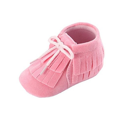 For 0-18Months Girls Boys,Clode® Cute Baby Girl Faux Suede Double-Deck Tassels Shoes Toddler Soft Sole Sneakers Casual Shoes
