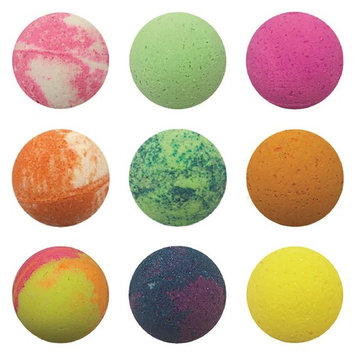 Tropical Delight 9 Piece, Bath Bombs Gift Set, USA Made, Large 4.8 oz, Pineapple Coconut, Tropical Citrus, Eucalyptus Mint, Mango Berry, Green Tea, Peach Smoothie, Ice Cream, Strawberry, Citrus Blend