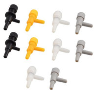 10 Pcs Male Thread Connecting Multicolor Air Control Valves for Aquarium