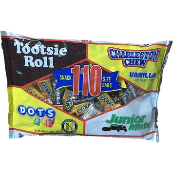 Tootsie Roll 110 Count Snack Size Bar Assortment, 4.02 Pounds