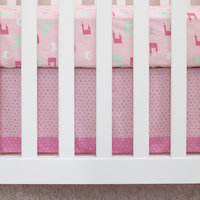 Child of Mine Princess Pink Heart Dust Ruffle
