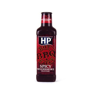 HP Sauce - Spicy BBQ Sauce - Spicy Hot Woodsmoke - 470g