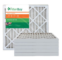 AFB Bronze MERV 6 23.5x23.5x2 Pleated AC Furnace Air Filter. Filters. 100% produced in the USA. (Pack of 6)