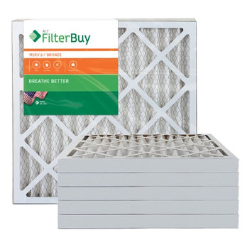 AFB Bronze MERV 6 18x20x2 Pleated AC Furnace Air Filter. Filters. 100% produced in the USA. (Pack of 6)