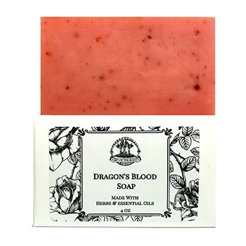 Dragon's Blood Shea Butter Soap 4 oz Bar Handmade for Love, Power, Purification & Protection (Wiccan, Pagan, Hoodoo, Voodoo)