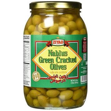 Ziyad Green Cracked Olives, Nablus, 48 OZ