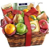 Golden State Fruit Cheese and Nuts Fruit Gift Basket, 12 pc