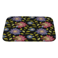 Gear New Flowers Decorative Flowers Bath Rug