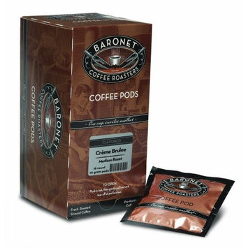 Baronet Coffee Creme Brulee Medium Roast, 18-Count Coffee Pods (Pack of 3)