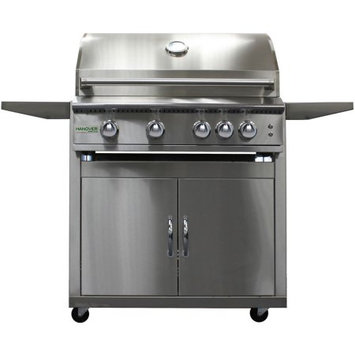 Hanover Grills 32-In. 4-Burner Liquid Propane Grill with Cart