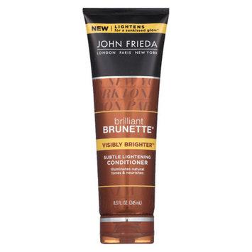 John Frieda Brilliant Brunette Visibly Brighter Subtle Lightening Conditioner 8.3 oz.(pack of 3)