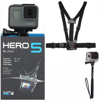 Teds GoPro HERO5 Black 12 MP Waterproof 4K Camera Camcorder with Accessory Bundle