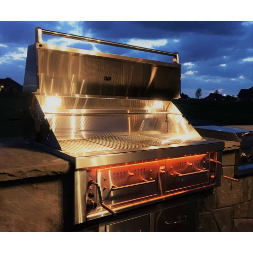 Emerald Series Gas Hybrid Dual Zone Charcoal / Wood Burning Grill