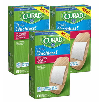 Curad Truly Ouchless Plastic Bandages, X-Large
