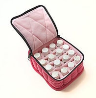 Therapure Health Essentials Essential Oil Carrying Case, 3 High, 5ml, 16-Bottle, Solid, Fuchia w/Soft Pink