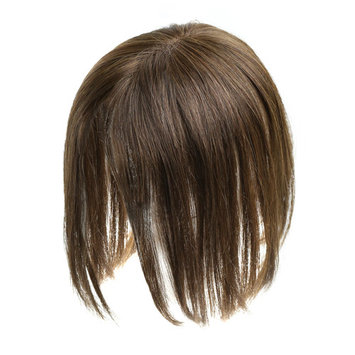 Monofilament Clip-in Human Hair Women's Topper- Color #6 Medium Brown - 18