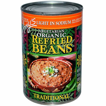 Amy's, Organic, Refried Beans, Traditional, Vegetarian, Light in Sodium, 15.4 oz pack of 2