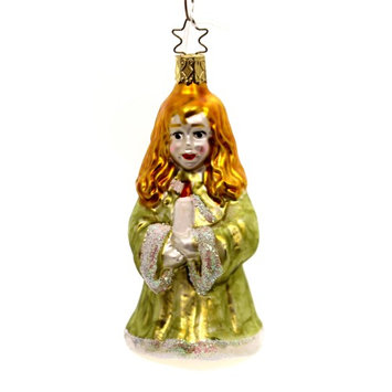 Holiday Ornaments CHOIR GIRL w/ WHITE CANDLE Ornament OWC Old World Inge Ta151