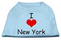 Mirage Pet Products 5136 SMBBL I Love New York Screen Print Shirts Baby Blue Sm 10