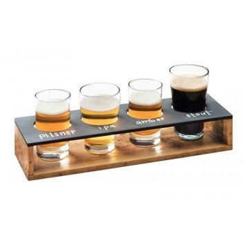 Cal-Mil Madera Wood Beer Flight Caddy