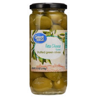 Camerican International Great Value Feta Cheese Stuffed Green Olives, 9.5 oz