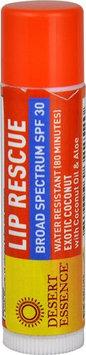 Desert Essence Lip Rescue Broad Spectrum SPF 30 Exotic Coconut - 0.15 oz (pack of 4)
