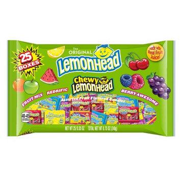 Brach's Lemonhead Mini Box Variety Mix, Assorted Flavors, 25 Ct