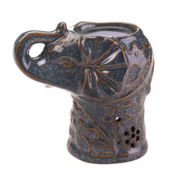 Verdugo Gift Company Ceramic Elephant Oil Warmer - Home Locomotion
