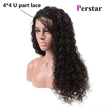Perstar Brazilian Virgin Hair Water Wave Bundles with Closure 100% Unprocessed Human Hair Weave With Lace Closure 8A Grade