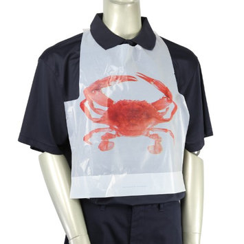 Royal Adult Poly Bibs with Crab Design, Case of 2,500