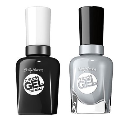 Sally Hansen Miracle Gel Nail Polish, Greyfitti and Top Coat Kit with Dimple Bracelet